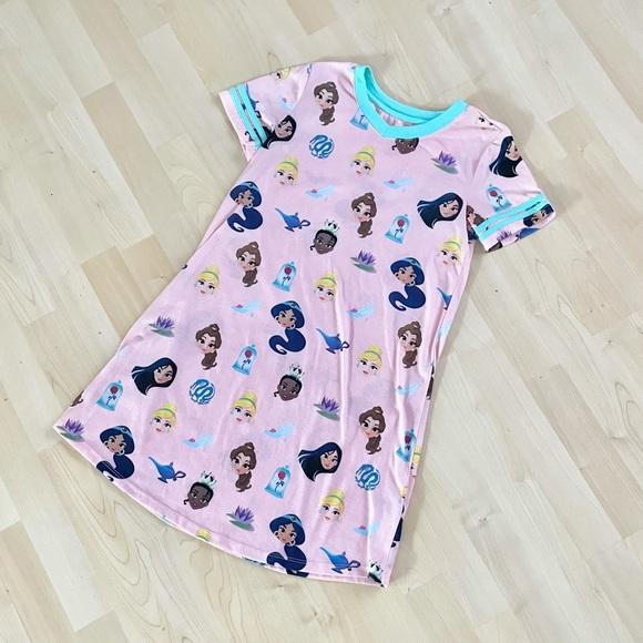 Disney Princess Emoji Pink Nightgown Pajamas